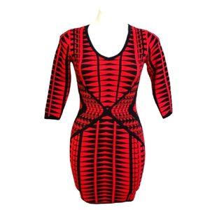 BodyCon Geometric Dress | Size Small
